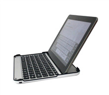 Silver+black Aluminum mini bluetooth keyboard for Samsung P7510