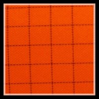 TC 65/35 21s twill orange check / grid polyester combed cotton antstatic fabric for uniform fabric