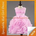 qualidade barato cinto rosa rose flor design vestido para menina de casamento crianças vestido meninas Lyd-304