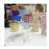 Wholesale Clear acrylic/ perspex cake stand