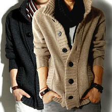 C82390A MENS THICK WINTER CARDIGAN SWEATER