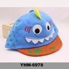 recentemente o verão do bebê do algodão com o chapéu dos desenhos animados de projeto padrão para sunproof atacado