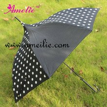 Creative Popular Polka Dot UV Straight Umbrellas