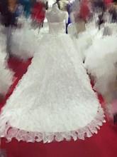 2015 romantic angel long fish long tail wedding dress