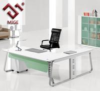 Cream Matt L Shape Modern Inexpensive Office Furniture