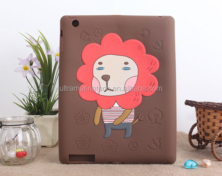 for ipad ainimals case,for ipad case,for ipad silicon case