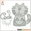 Fashion Fish Iron On Crystal Black Rhinestone Transfer Cat Hot Fix Motif