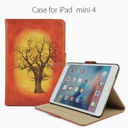 2016 new product flip PU leather smart case for iPad mini 4