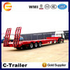 BPW Low Bed Semi Trailer 3 Axle 60ton tractor trailer low bed