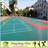 Outdoor interlocking plastic floor tile for volleyball court