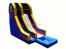slip water slides , LZ-B2815 inflatable water slide castle