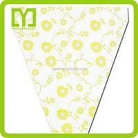 Yiwu China wholesale bopp plastic flower pot sleeves