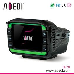 New design multifunctional GPS radar detector optional with car dvr 2 in 1 D-70