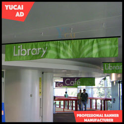 Exhibition polyester hanging banner for trade show fair