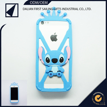 Promotional gift 3D cartoon silicon bumper case for mobile phone