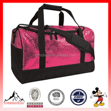 Custom Glitter Gag Duffle Bag With Shoes Compartment (ESX-LB248)