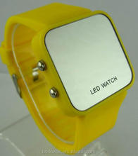 Sport watch silicone led watch for women