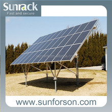 Ground mount solar panel system