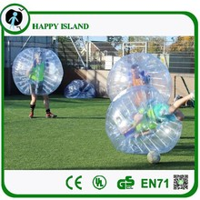 HI CE high quality human bubble/billiard soccer ball/bulk plastic balls