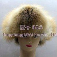 BG5667-2 Genuine Red Fox Fur Animal Hat with earflaps aviator hat