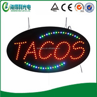 Popular cheap restaurant window sign hidly led Tacos sign