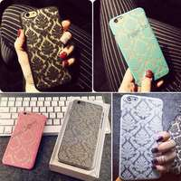 Brand New Glam Flower Damask Hard Plastic Back Mobile Phone Skin Case Cover For Iphone 5 5S 6 6 Plus