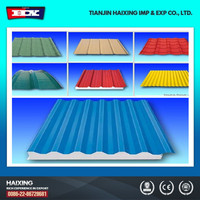 zinc corrugated roofing sheet prices Color coated galvanized corrugated steel sheet wave tile for roofing system (red color)