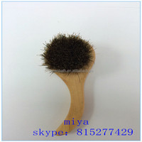 High quality natural100% horse bristle facial body brush export to Japan