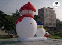 2015 hottest cheap inflatable Christmas decoration snowmen