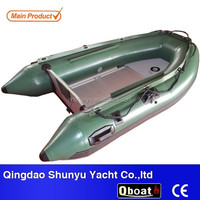 2015 CE certificate 10ft korea PVC material inflatable fishing boat for sale