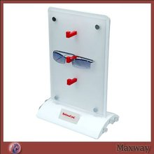 White Popular Double Sides Acrylic Sunglasses Display/Hoder with Arcual Bottom