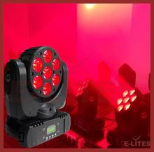 cheap wedding decorations moving head light,7*12W 4in1 led beam&wash moving head light