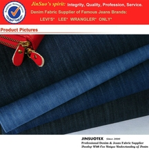 7 oz Mercerized Indigo Twill Woven 100% Cotton Jeans Garment Fabric For European Market