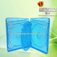 22mm plastic blu ray cd case dvd boxes for 4 discs