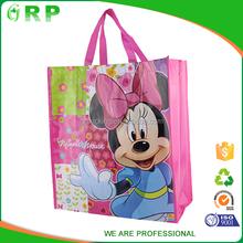 Hot sale lightweight cartoon mouse pp non woven beach tote bag