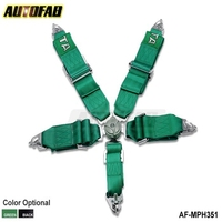 Black / Green Seat Belt with 5pcs FIA 2020 Homologation / Harness / Racing Satefy Seat Belt /width:3 inches/5Point AF-MPH351