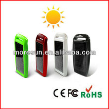 Cute festival gift 1200mAh customized portable solar battery charger circuit for mobile phone with dual usb port