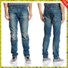OEM Service Supply Type and Adults Age Group destroy jeans pants trouser for men DenimJeans Pants Medium wash straight cut jean