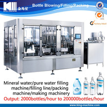 Automatic PET bottle water packing / making machine
