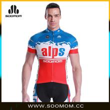 2015 New Arrival China Pro Team Bike Jersey Blank Printing Custom Design Alps
