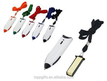 Promotional neck ball pen with sticky note