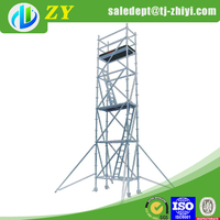 Silver metal scaffold plank and stage scaffold for sale