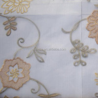 100% polyester, 280cm width, pattern design, embroidered voile curtain fabric