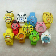 2015 colorful vogue child slap watch silicone jelly kid watch