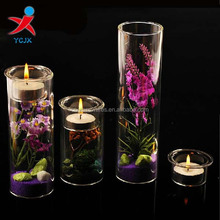 NEW DESIGN CYLINDER CLEAR GLASS CANDLE HOLDER