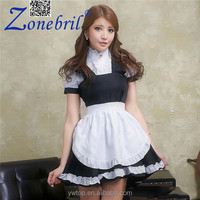 2015 Best Selling Wholesale Restaurant Waitress Dresses Sexy Maid Outfit Stage Costumes Anime Cosplay