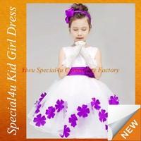 angel dresses for kids gown purple flower bulk dresses SFUBD-1058