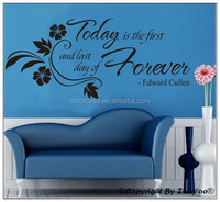 3D removable custom vinyl sticker words/quotes sticker wall art decal/sticker for home decor today is the first(ZY8063)