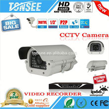 Low price promotion SONY CCD 600~1000TVL outdoor Waterproof IR Bullet Analog cctv via twisted pair