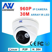 New Products For 2015 Ce,Rohs,Fcc Certificate Indoor 960P 1.3 Megapixel IR30M Poe IP Camera Dome